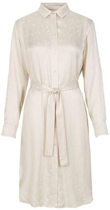 Samsoe & Samsoe Cissa Shirt Dress In Warm White - XS