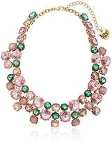 Betsey Johnson Marie Antoinette Mixed Faceted Stone Collar Necklace