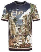 Dolce & Gabbana Palermo Jazz Club Print T-shirt