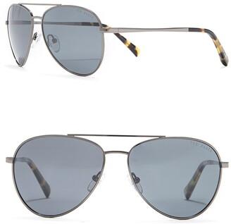Ted Baker 60mm Metal Frame Aviator Sunglasses