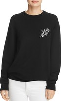 Frame Rose-Embroidered Sweatshirt