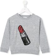 Little Marc Jacobs sequinned lipstick patch sweatshirt