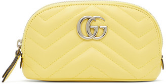 Gucci Yellow Small GG Marmont 2.0 Cosmetic Pouch