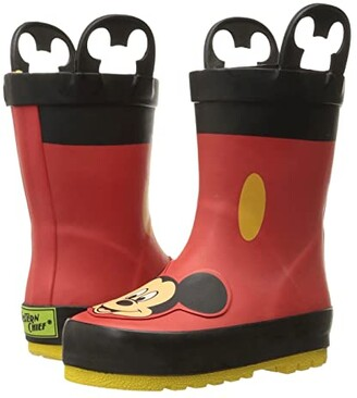 Western Chief Mickey Mouse Rain Boots (Toddler/Little Kid/Big Kid) (Red) Boys Shoes