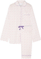 Three J NYC Jamie Printed Cotton-poplin Pajama Set - Red