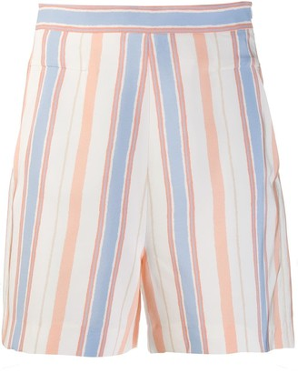 Noon By Noor striped Smokey shorts