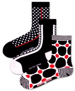 Love Sock Company 3 Pack Women's Socks Bundle with Polka Dots and Stars by