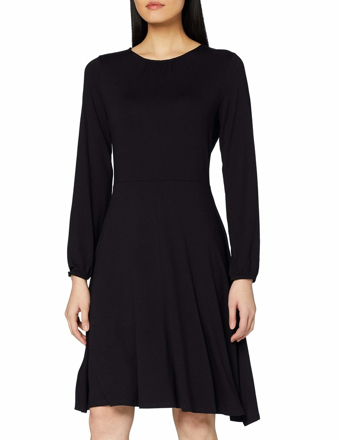 Dorothy Perkins Women's Pleat Neck Fit & Flare Dress