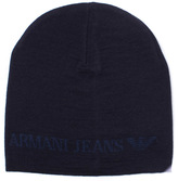 Armani Jeans Blue Graphite Knitted Beanie