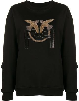 Pinko Embellished Logo Sweatshirt