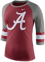 Nike Women's Alabama Crimson Tide Team Stripe Logo Raglan T-Shirt