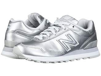 New Balance Classics WL515v1 (Silver Metallic/Silver Metallic Synthetic) Women's Running Shoes