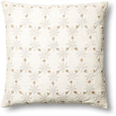 Kevin OBrien Ditsy Flower 24x24 Linen Pillow, Taupe