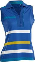 Asstd National Brand Blast Sleeveless Sleeveless Knit Polo Shirt