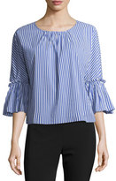 Collective Concepts Bell-Sleeve Striped Blouse