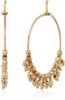 Mizuki 14k Bead Fringe Hoop Earrings