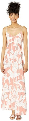 Roxy Brilliant Stars Maxi Dress (Terra Cotta Flying Flowers) Women's Dress