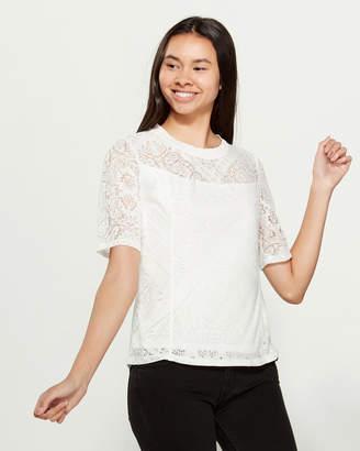 Laundry by Shelli Segal Elbow Sleeve Bandana Pattern Top