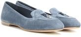 Loro Piana Elodie My Charms suede ballerinas
