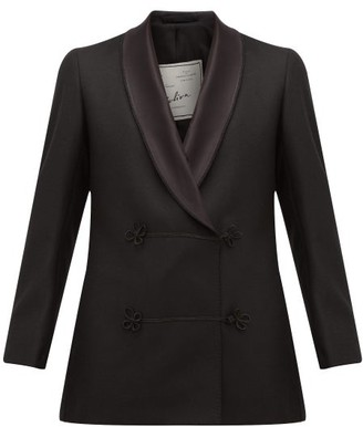 Giuliva Heritage Collection Claudia Double-breasted Wool Jacket - Black