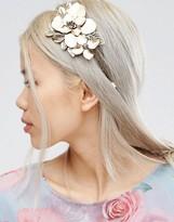 Asos Metal Flower Leaf Hair Crown