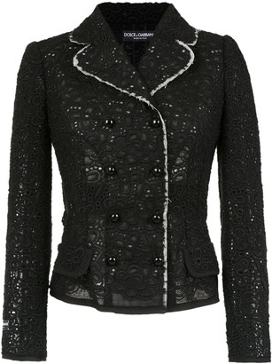 Dolce & Gabbana Lace Design Jacket