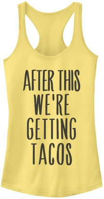 Fifth Sun Juniors' After This We're Getting Tacos Racerback Tank