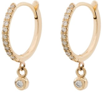 Zoë Chicco 14kt Yellow Gold Diamond Drop Hoops