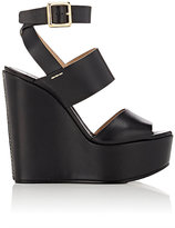 Chloé Women's Double-Band Platform Wedge Sandals-BLACK