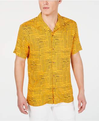 INC International Concepts Inc Men Abstract Dot-Print Camp Shirt