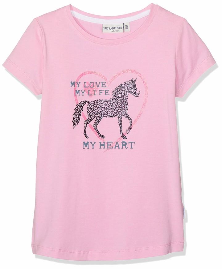 Salt&Pepper Salt and Pepper Girls' T-Shirt Horses uni Print