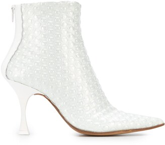 MM6 MAISON MARGIELA Bubble Wrap Effect 100mm Ankle Boots
