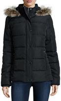 ST. JOHN'S BAY St. Johns Bay Faux-Fur Trim Puffer Coat