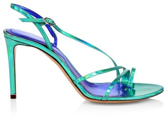 Nicholas Kirkwood Elements Metallic Slingback Sandals