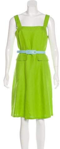 Valentino Belted Linen Dress