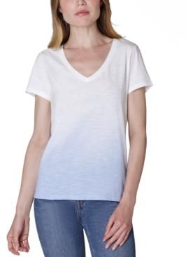 Ultra Flirt Juniors' V-Neck Dip-Dyed T-Shirt