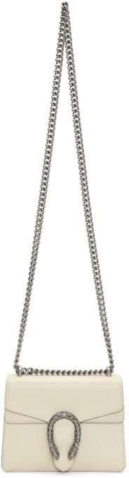 Gucci White Mini Dionysus Chain Bag