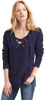 Gap Lace-up long sleeve sweater