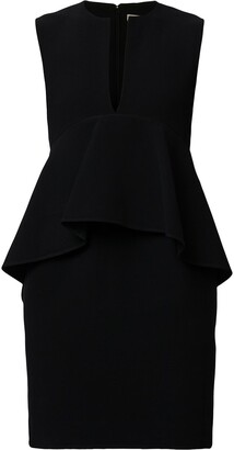 Céline Pre-Owned Pre-Owned Ruffled Detail Fitted Dress