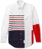 Thom Browne Slim-Fit Button-Down Collar Printed Cotton Oxford Shirt