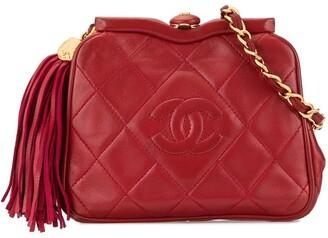 Chanel Pre Owned 1989-1991 CC Logos Fringe Bum Bag