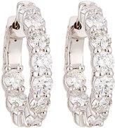 Neiman Marcus Diamonds 18k White Gold Diamond Hoop Earrings, 4.10tcw