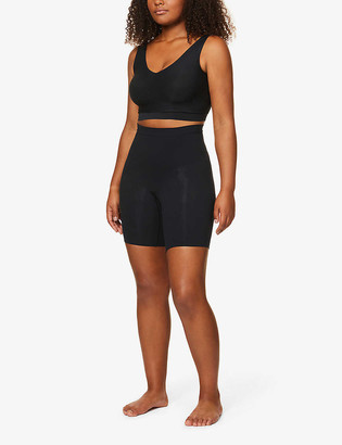 Spanx Power Shorts high-rise stretch-jersey shorts