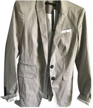 SET Beige Cotton Jacket for Women