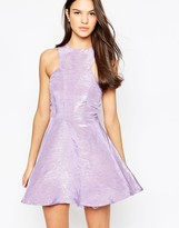 AX Paris Kick Out Skater Dress in Iredescent