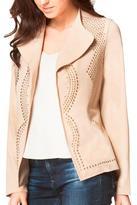 Carmin Beige Studded Jacket