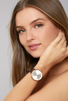 Nixon Kensington Leather Silver, Gold, and Rose Gold Watch