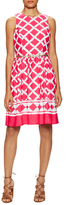 Eliza J Print Belted Above The Knee Dress