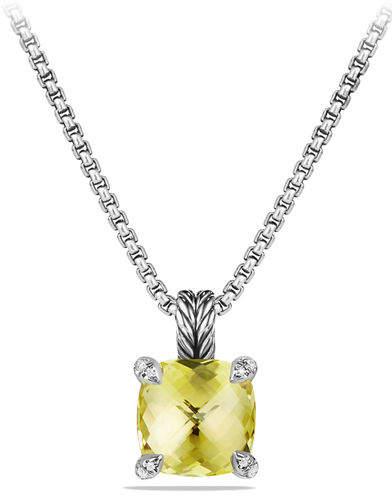David Yurman 11mm Châtelaine Faceted Pendant Necklace