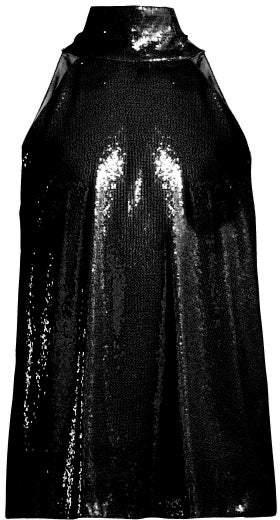 Galvan Galaxy Sequin Embellished Top - Womens - Black